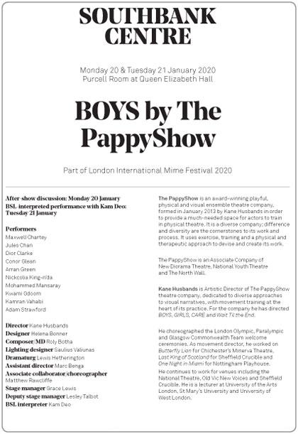 PappyShowProgramme